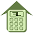 Calculator icon for cost to build a custom home page