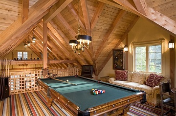 Custom Home Revitalization: Make Your Attic Space Fun With a New Game Room