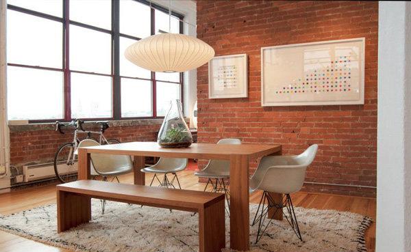 geometric dining room design