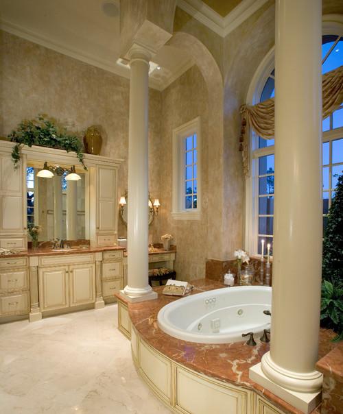Custom Home Building: Design an Engaging Mediterranean Bathroom