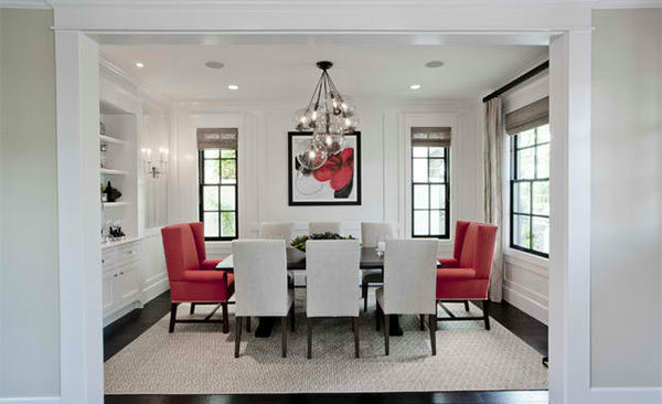 embrace a red black and white dining room design fornerlavoy