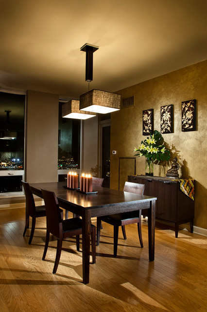 Asian Inspired Dining Room Design
