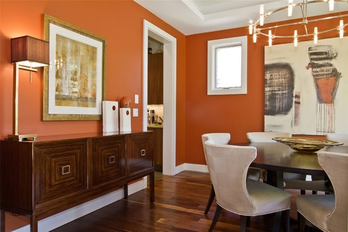 Embrace an Orange Dining Room Design